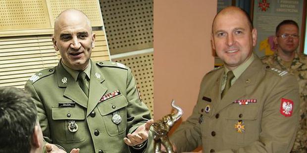 Od lewej gen. Duda i płk Pluta