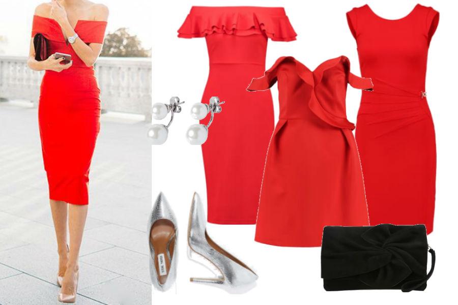f62aec9d12 stylizacja z czerwoną sukienką   http   blog.novamoda.pl