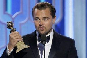 Leonardo DiCaprio na Z�otych Globach 2016