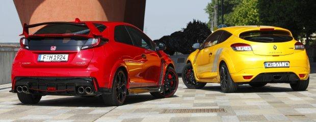 Honda Civic Type R vs. Renault Megane R.S. Trophy