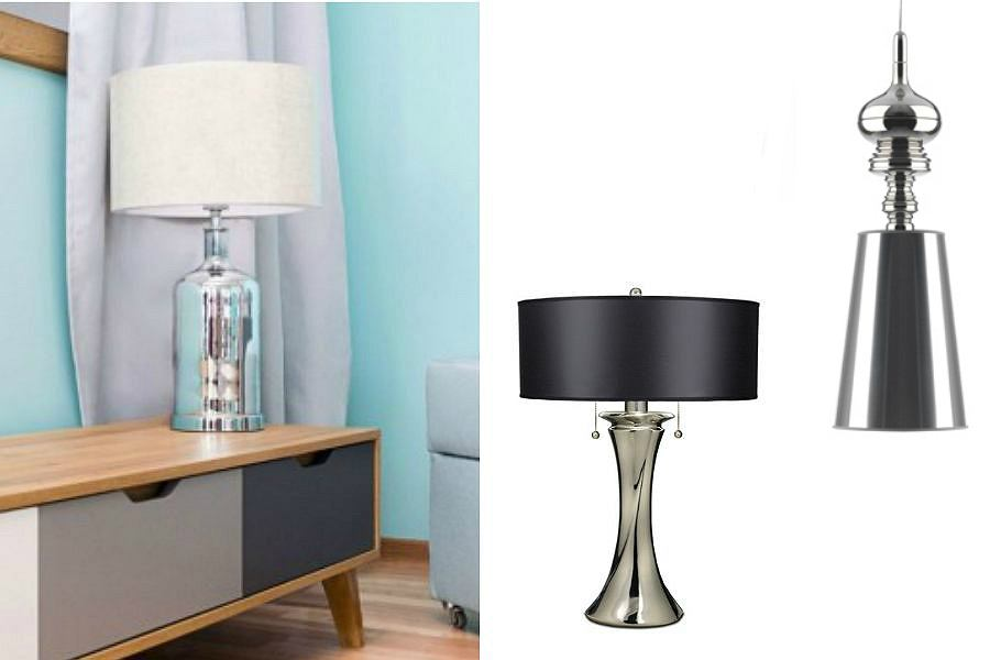 lampy z elementem metalu