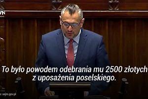 """Przemawia poseł Jarosław Kaczyński. """"Regulamin i ograniczenia czasowe nie obowiązują"""""""