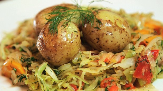 Kuroń kapusta ziemniaki
