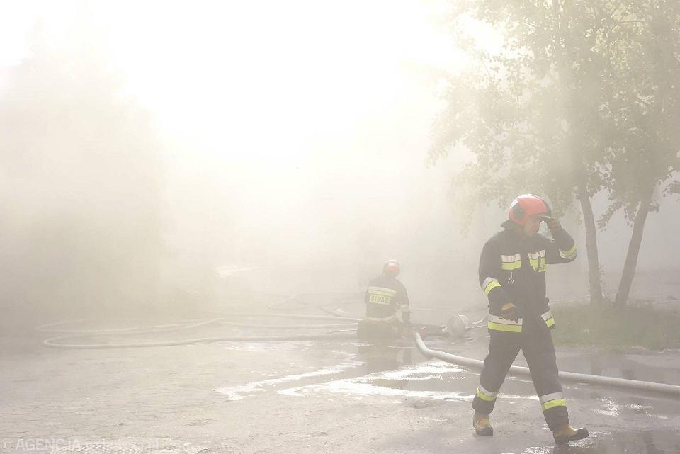 Pożar W Centrum Prawdopodobna Przyczyna Zaprószenie Ognia Przez