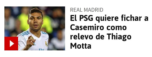 PSG zainteresowane Casemiro