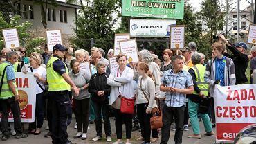 Protest mieszkańcow osiedli Podjuchy oraz Zydowce - Klucz