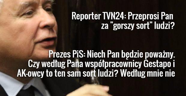 """Czy Kaczyński przeprosi za """"najgorszy sort Polaków""""? """"Niech pan będzie poważny..."""""""