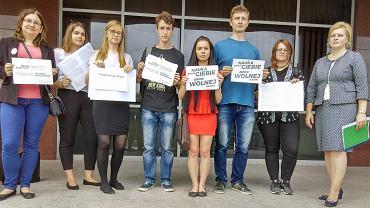 Protest studentek i studentów na Uniwersytecie Warmińsko-Mazurskim w Olsztynie
