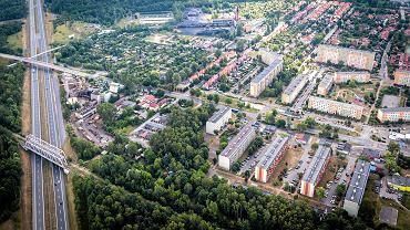 Widok na Giszowiec od strony autostrady A4