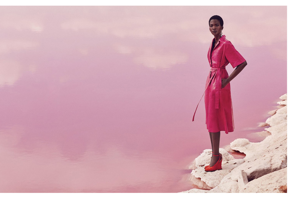 'Think Pink' editorial Harper's Bazaar