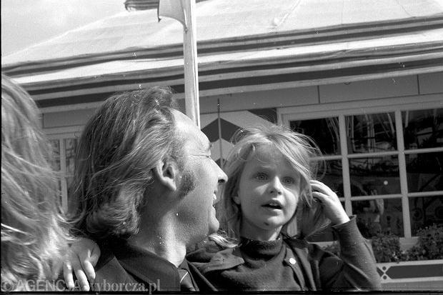 Andrzej Wajda z córką Karoliną