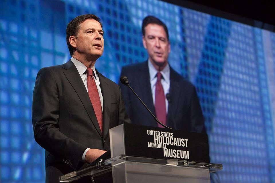 Dyrektor FBI James Comey przemawia w Muzeum Holocaustu w Waszyngtonie, 15.04.2015