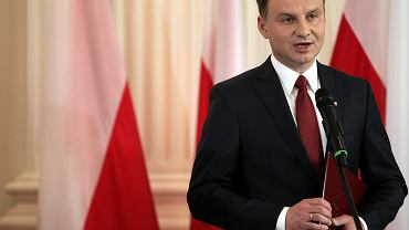 Andrzej Duda przemawia po otrzymaniu uchwały o wyborze na prezydenta