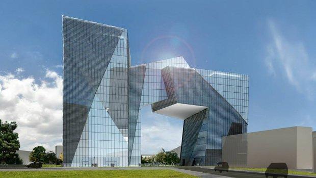 Zdjęcie numer 2 w galerii - Daniel Libeskind zaprojektował dla Łodzi. Brama Miasta [WIZUALIZACJE]