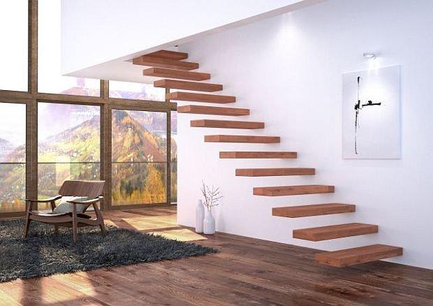 Nowoczesne schody: bez balustrad i por�czy