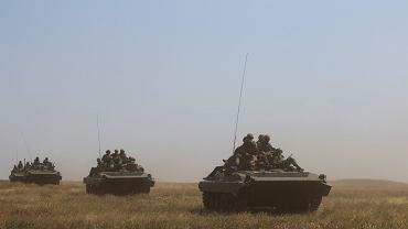 Ćwiczenia ukraińskich żołnierzy w obwodzie chersońskim