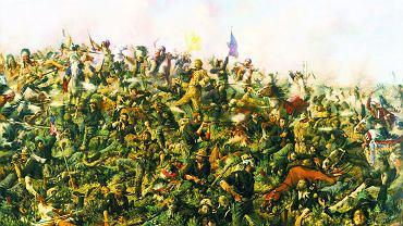 'Ostatnia pozycja Custera' z 1899 r. pędzla Edgara Samuela Paxsona, który rozmawiał z uczestnikami bitwy, zarówno kawalerzystami, jak i Indianami, i na podstawie ich relacji starał się odtworzyć wszelkie detale bitwy, od uzbrojenia po miejsce, w którym w chwili domniemanej śmierci Custera znajdowali się poszczególni żołnierze i wojownicy. Praca nad obrazem zajęła mu sześć lat.