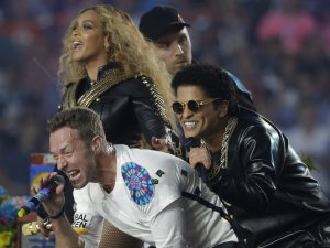 Beyonce, Chris Martin, Bruno Mars