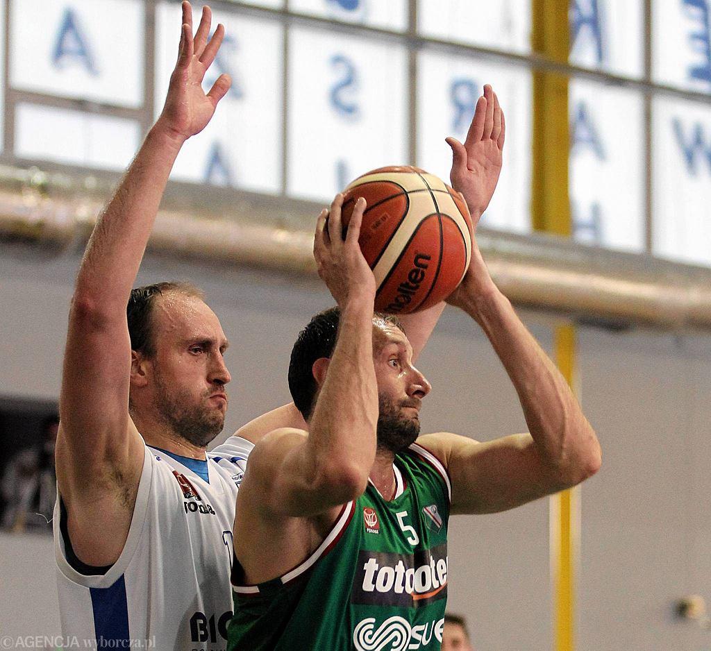 Legia Warszawa - Biofarm Basket Poznań 60:64. Adam Metelski