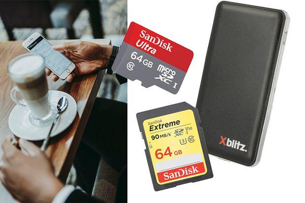 Karty pamięci i power banki