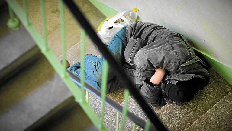 Bezdomny w Łodzi