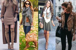 Brązowe ubrania w klasycznych stylizacjach na co dzień