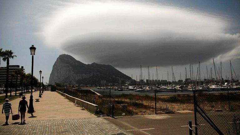 Charakterystyczna skała na Gibraltarze