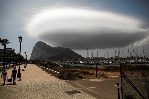 Charakterystyczna ska�a na Gibraltarze