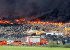Hiszpania: Składowisko opon samochodowych pod Madrytem wciąż płonie
