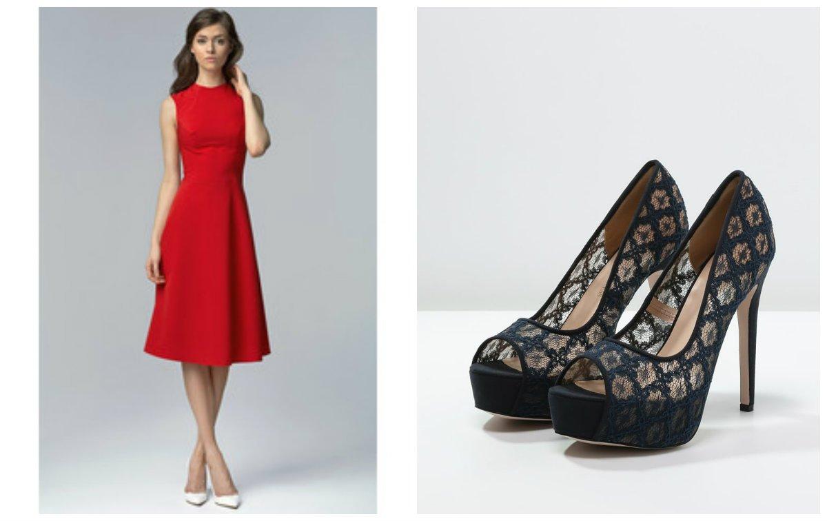 df88d36a2e Dodatki do czerwonej sukienki  jakie wybrać
