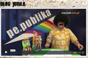 """Owsiak parodiuje telewizję Republika i powołuje swoją """"tęczową"""" Pe.Publikę"""