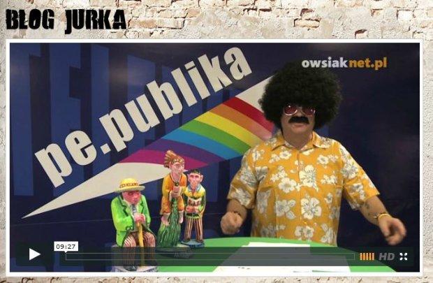 """Owsiak parodiuje telewizj� Republika i powo�uje swoj� """"t�czow�"""" Pe.Publik�"""