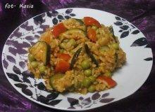 Pomidorowe risotto z cukinią - ugotuj