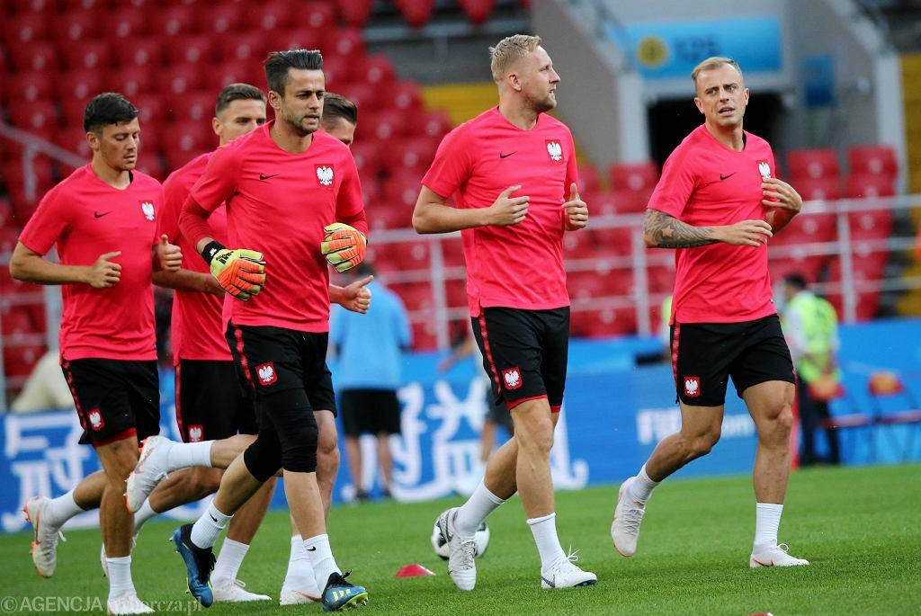 Dziś mecz Polska - Senegal. Nz. trening reprezentacji Polski przed meczem