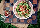 Og�rkowe wst��ki z sosem pomidorowo-kolendrowym