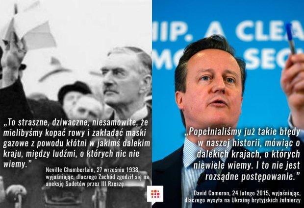 Neville Chamberlain, 1938, David Cameron, 2015