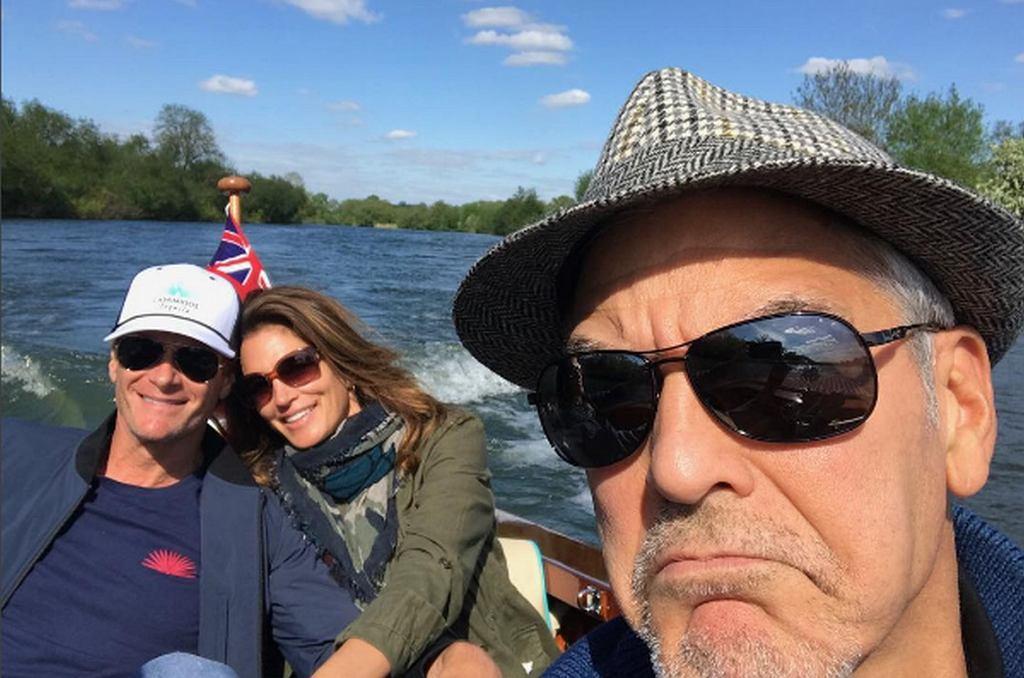 George Clooney, Rande Gerber, Cindy Crawford