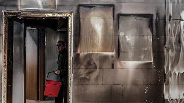 Dom socjalny na Różance po pożarze
