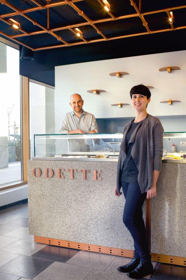 Katarzyna Zieniewicz i Krzysztof Rabek, właściciele pracowni cukierniczej Odette, która mieści się przy ulicy Górskiego 5 w Warszawie.