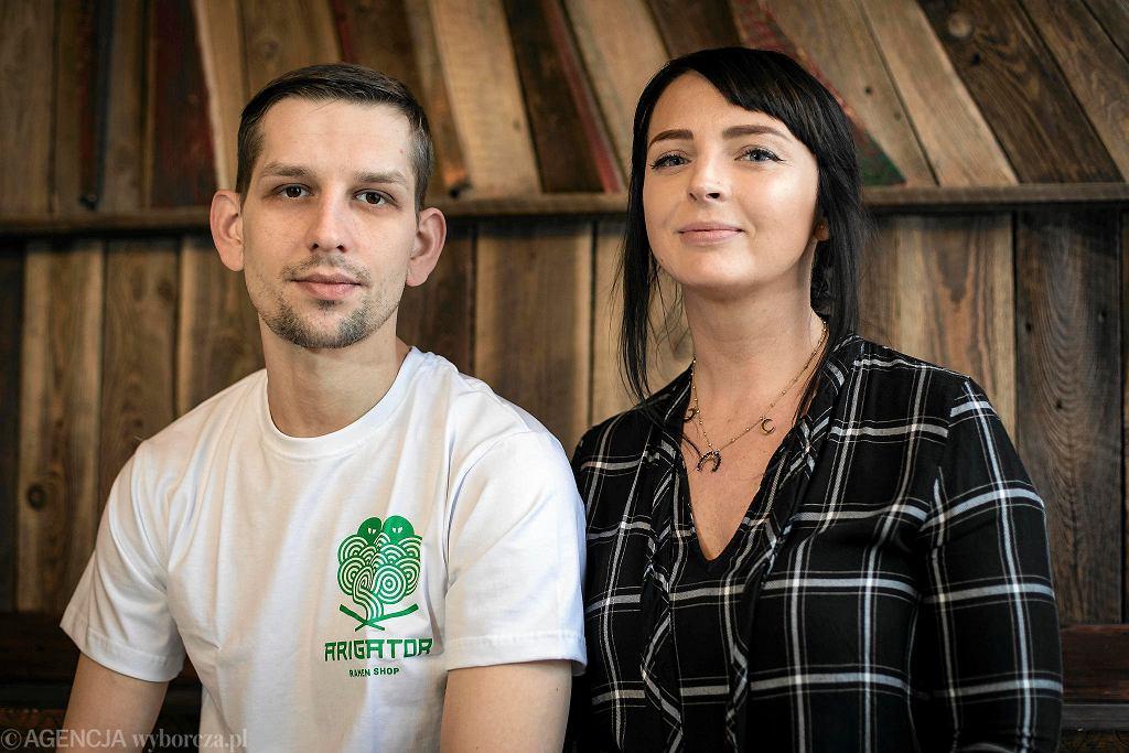 Bartek Sobieraj i Agnieszka Szpilowska.  Pomysłodawcy  ramen shopu ' Arigator ' / DAWID ŻUCHOWICZ