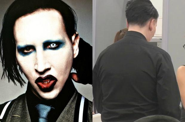 Marilyn Manson był ostatnio widziany na lotnisku w Los Angeles. Kontrowersyjny muzyk bez tony makijażu jest nie do poznania.