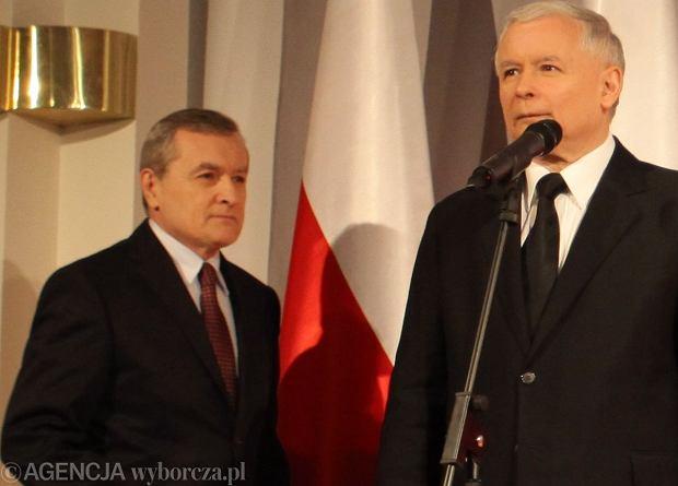 Jaros�aw Kaczy�ski i prof. Piotr Gli�ski