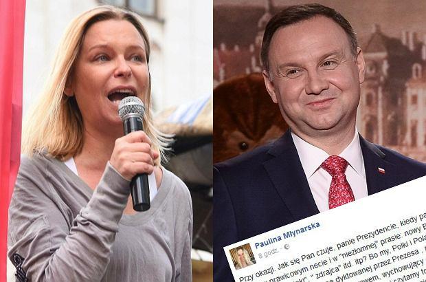 Paulina Młynarska napisała krótki list otwarty do prezydenta Andrzeja Dudy. I zadaje mu kłopotliwe pytanie.
