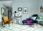 Szare �ciany w mieszkaniu projektanta