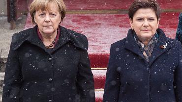 KPRM. Powitanie Kanclerz Republiki Federalnej Niemiec Angeli Merkel w Warszawie