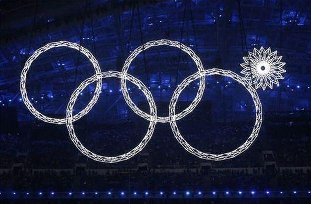 Koło olimpijskie, które się zacięło w najmniej odpowiednim momencie