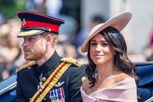 Meghan Markle (księżna Meghan) i książę Harry na Trooping the Colour 2018