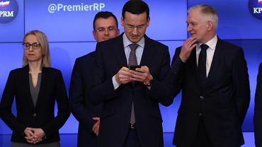 20.03.2018, premier Mateusz Morawiecki i minister finansów Teresa Czerwińska podczas #Tweetupu w Kancelarii Prezesa Rady Ministrów.