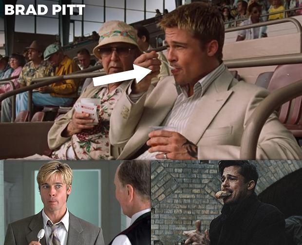 Brad Pitt ciągle je, a DiCaprio... Serio, oni robią to w prawie każdym filmie