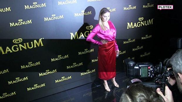 """Na imprezie """"Magnum"""" pojawił się cały tłum gwiazd. Wiele z nich prezentowała się pięknie. Niestety, nie możemy powiedzieć tego o Małgorzacie Sosze."""